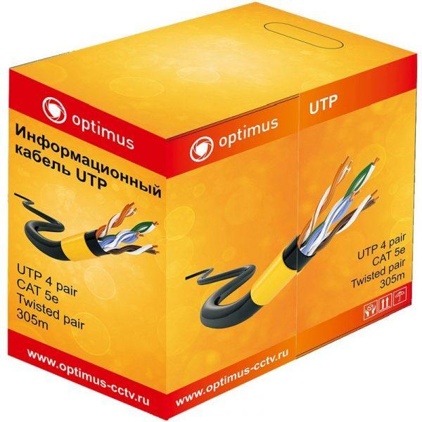 Фото 1 - Кабель для систем видеонаблюдения Optimus UTP-5e 4x2x0.5 CCA (indoor) 305 м.