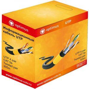 Фото 4 - Кабель для системы видеонаблюдения Optimus UTP-5e 4x2x0.5 Cu (outdoor) 305 м.