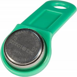 Ключ электронный Touch Memory DS 1990А-F5 (зеленый) с держателем