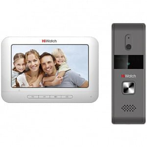 Фото 1 - Комплект видеодомофона Hiwatch DS-D100K.