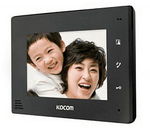 Фото 3 - Монитор видеодомофона цветной с функцией «свободные руки» KCV-A374SD (чёрный).