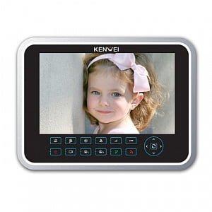 Фото 27 - Монитор видеодомофона цветной с функцией «свободные руки» KW-129C.