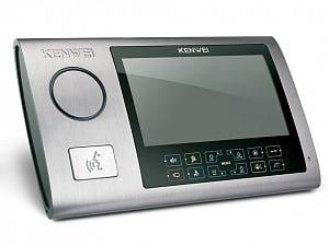 Фото 29 - Монитор видеодомофона цветной с функцией «свободные руки» KW-S701C (серебро).