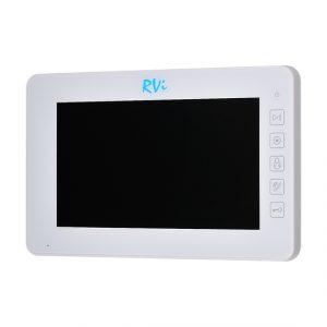 """Фото 3 - Монитор видеодомофона цветной с функцией """"свободные руки"""" RVi-VD7-22 (белый)."""