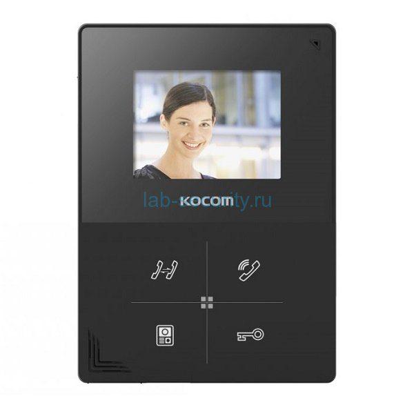 Фото 1 - Монитор видеодомофона цветной KCV-401EV (черный).