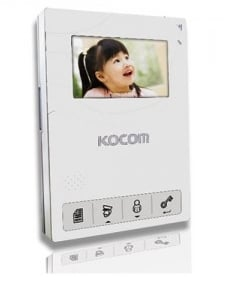 Фото 2 - Монитор видеодомофона цветной KCV-434SD (белый).