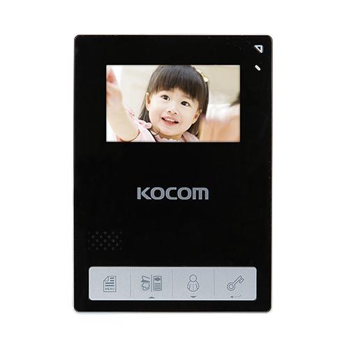 Фото 1 - Монитор видеодомофона цветной KCV-434SD (черный).
