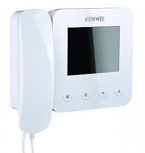 Фото 6 - Монитор видеодомофона цветной KW-E400FC (белый).
