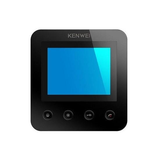 Фото 1 - Монитор видеодомофона цветной KW-E400FC (черный).