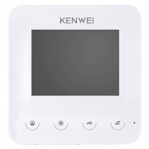 Фото 3 - Монитор видеодомофона цветной KW-E401FC (белый).