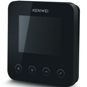 Фото 9 - Монитор видеодомофона цветной KW-E401FC (черный).