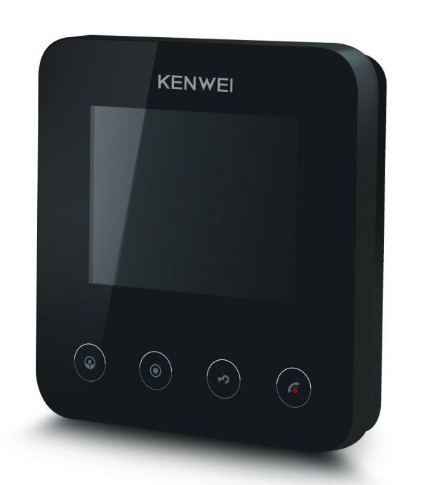 Фото 1 - Монитор видеодомофона цветной KW-E401FC (черный).