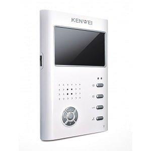 Фото 10 - Монитор видеодомофона цветной KW-E430C (белый).
