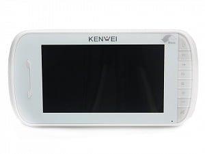 Фото 11 - Монитор видеодомофона цветной KW-E703FC (белый).