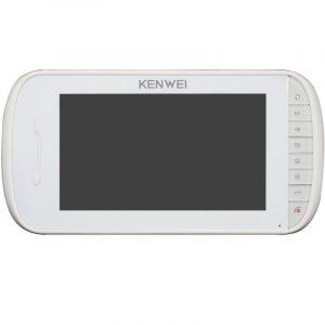 Фото 12 - Монитор видеодомофона цветной KW-E703FC-M200 (белый).