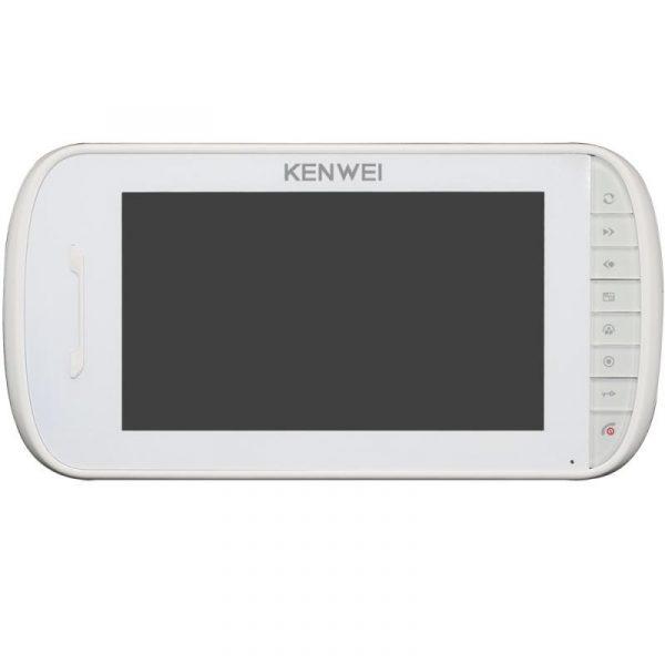 Фото 1 - Монитор видеодомофона цветной KW-E703FC-M200 (белый).