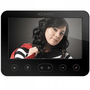 Фото 20 - Монитор видеодомофона цветной KW-E706FC-W200 (черный).