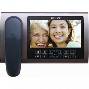 Фото 21 - Монитор видеодомофона цветной KW-S700C (бронза).