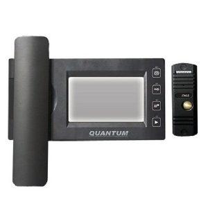 Фото 5 - Монитор видеодомофона цветной QM-434C_SET2 (черный)+Выз. панель (черный).