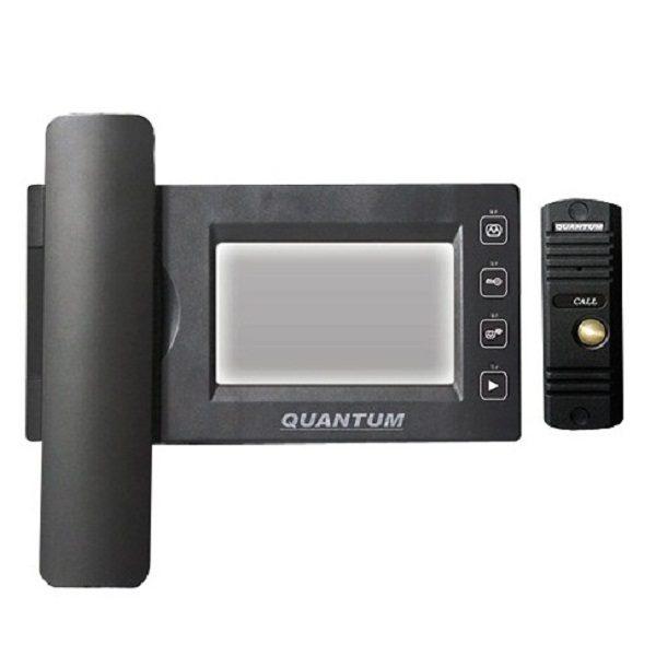 Фото 1 - Монитор видеодомофона цветной QM-434C_SET2 (черный)+Выз. панель (черный).