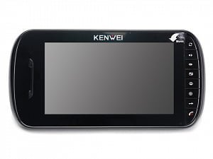 Фото 1 - Монитор видеодомофона цветнойKW-E703FC (черный).