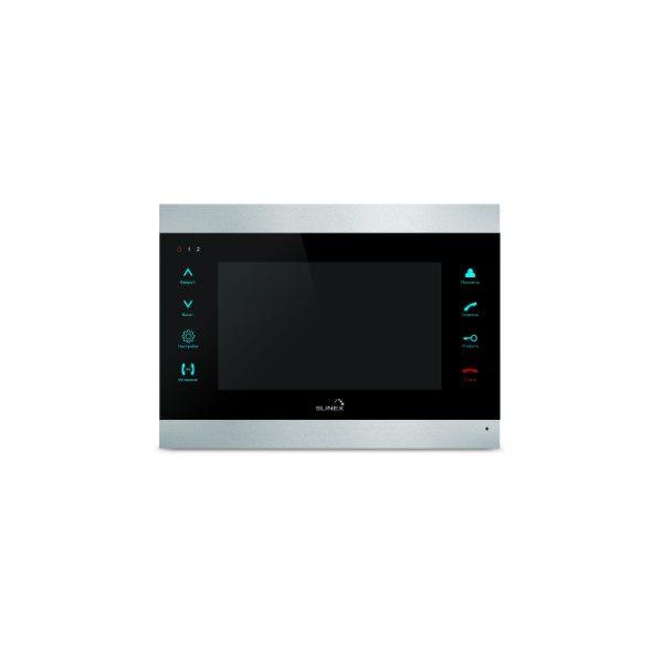 Фото 1 - Монитор домофона цветной с функцией «свободные руки» SL-07M (серебро+черный).