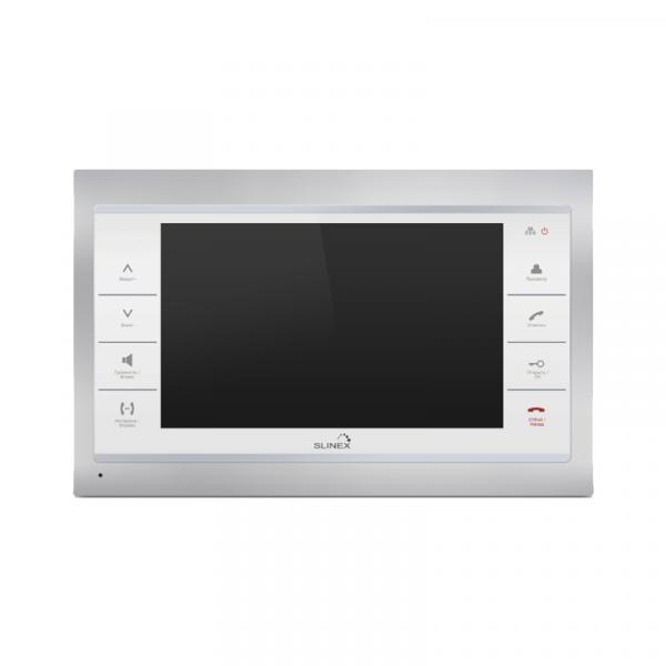 Фото 1 - Монитор домофона цветной с функцией «свободные руки» SL-10IP (серебро+белый).