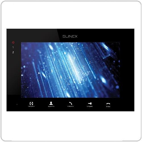 Фото 1 - Монитор домофона цветной с функцией «свободные руки» SQ-07MT (черный).