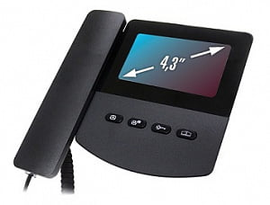 Монитор домофона цветной QM-433C_EXEL (черный)