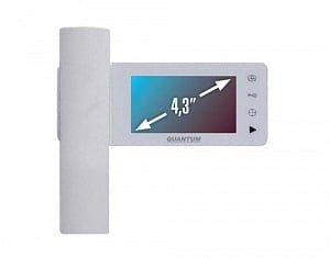 Фото 14 - Монитор домофона цветной QM-434C (белый).