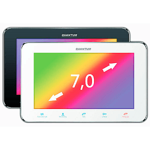 Фото 1 - QM-710C (белый) Монитор домофона цветной с функцией свободные руки.