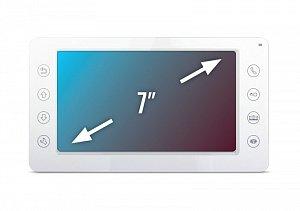 Фото 3 - QM-750C (белый) Монитор домофона цветной с функцией свободные руки.