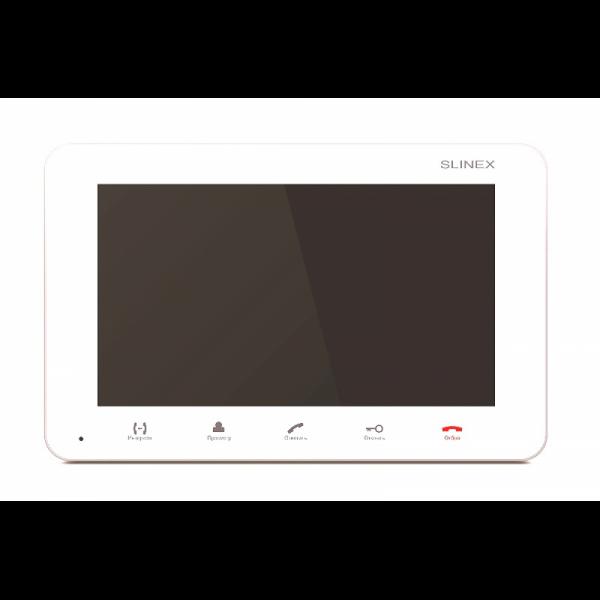 Фото 1 - SM-07M (белый) Монитор домофона цветной с функцией свободные руки.